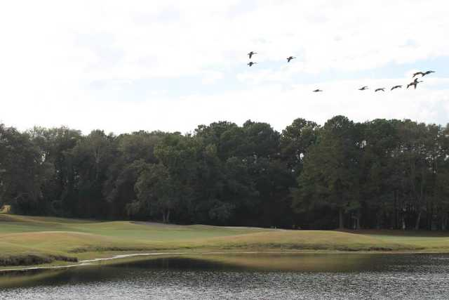 A view over the water from the Country Club of South Carolina