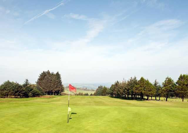 A view of a hole at Carmarthen Golf Club