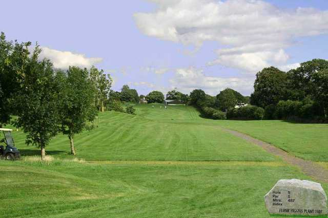 A view from tee sign #5 at Claremorris Golf Club