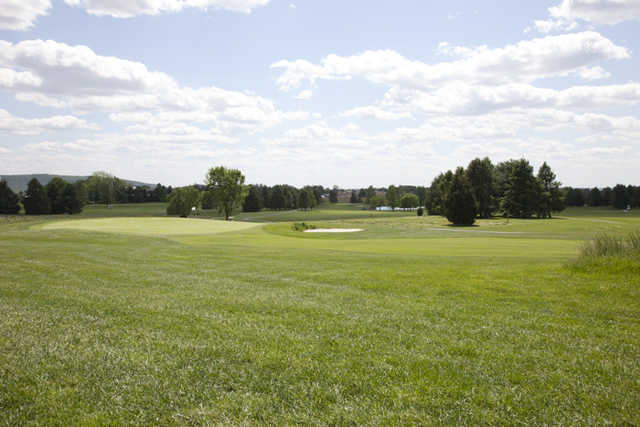 A view of a green at Foxchase Golf Club