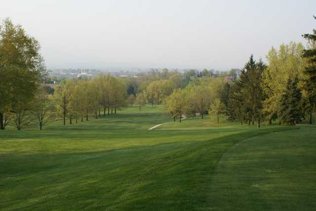 A view of a fairway at Lebanon Valley Golf Course