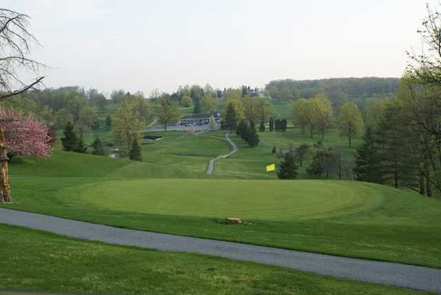 A view of a green at Lebanon Valley Golf Course