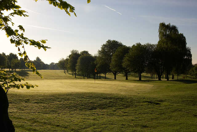 A view of the 1st green at Hull Golf Club