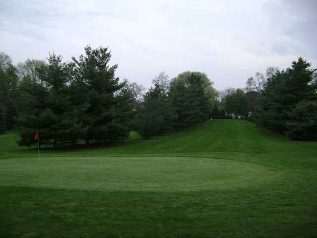 A view of the 10th green at Village Greens Golf Course