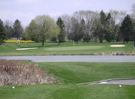 A view from a tee at Willow Hollow Golf Course