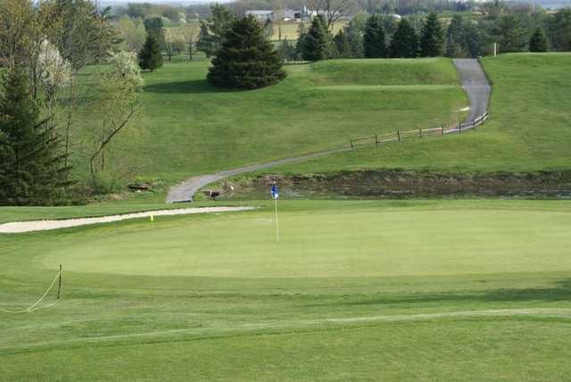 A view of a green at Blue Mountain View Golf Course