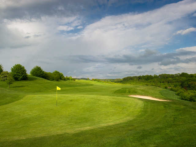 A view of a hole at Chelsfield Lakes Golf Centre