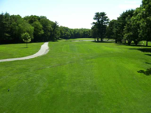 A view from a tee at Stone - E - Lea Golf Course