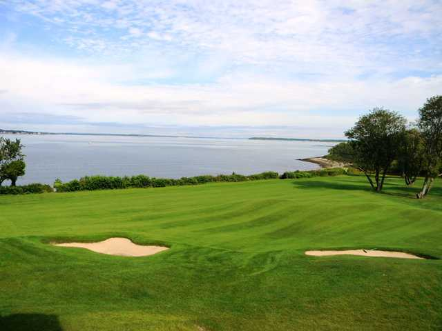 A sunny day view from The Aquidneck Club