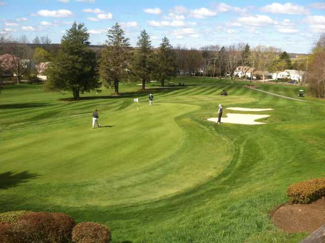 A view of a green at Valley Country Club