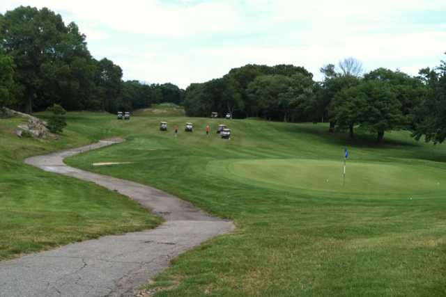 A view of a hole at Valley Country Club