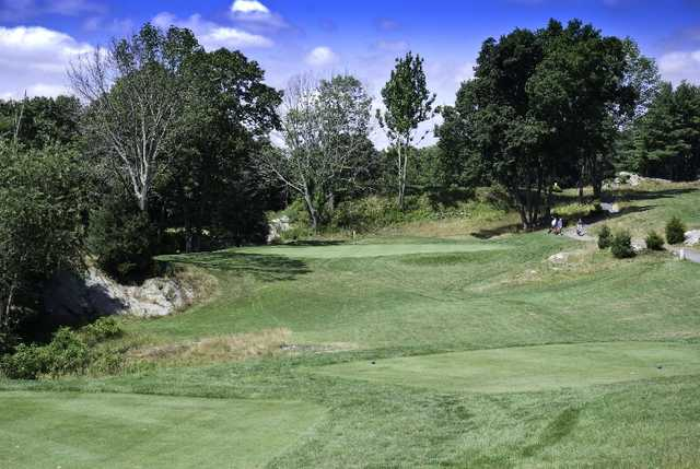 A sunny day view from a tee at Midville Country Club