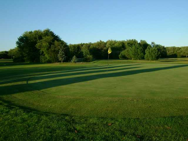 A view of a green at Wampanoag Golf Course