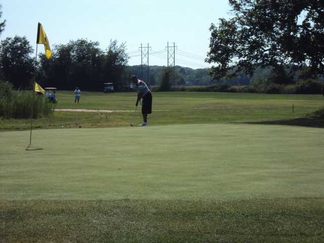A view of a hole at Wampanoag Golf Course