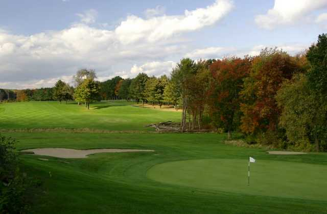 A view of a green at Cranston Country Club