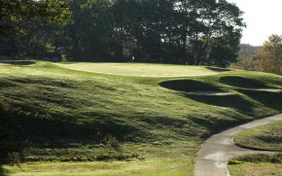 A view of a green at Agawam Hunt Club
