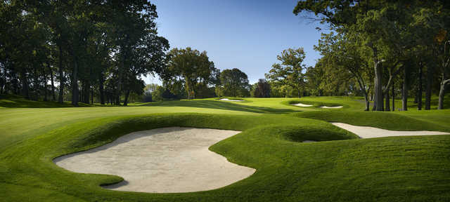 A view of the 7th fairway at Wannamoisett Country Club.