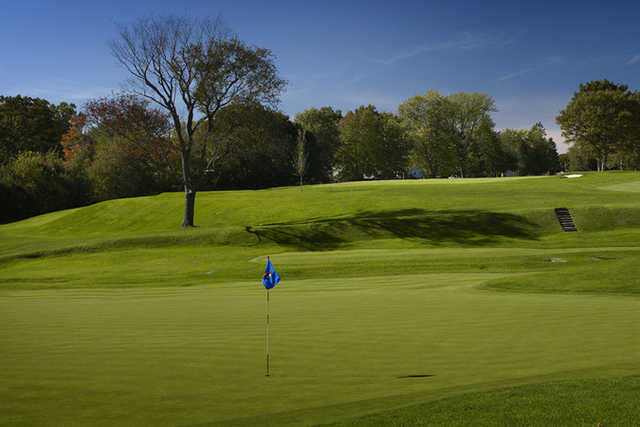 A view of the 2nd hole at Wannamoisett Country Club