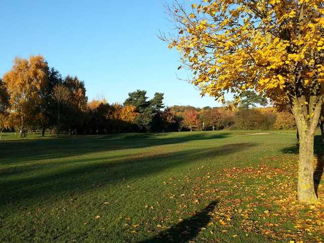 An autumn view of the 15th fairway at Ruddington Grange Golf Club