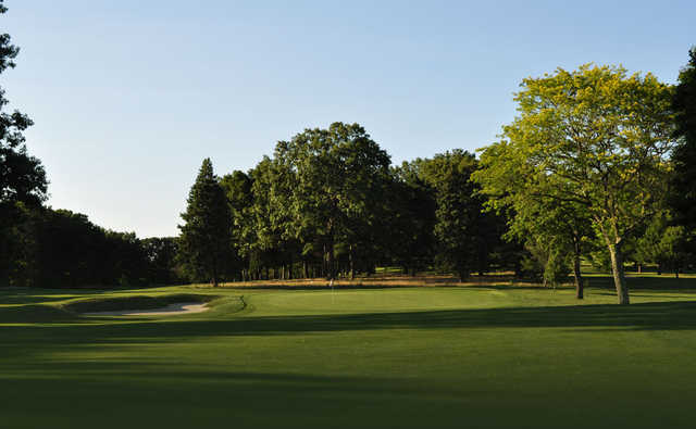 A view of a green at Pawtucket Country Club