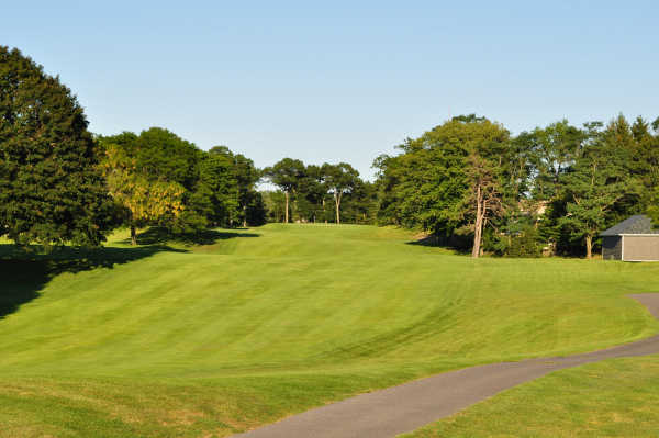 A view of fairway #10 at Pawtucket Country Club