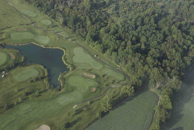 Aerial view of the 7th hole at St. Marys Golf and Country Club