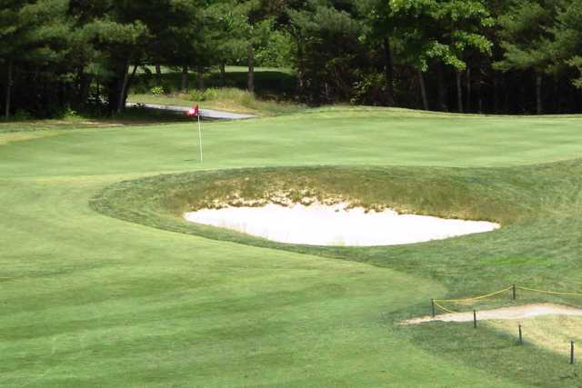 A view of a green at Acushnet River Valley Golf Course