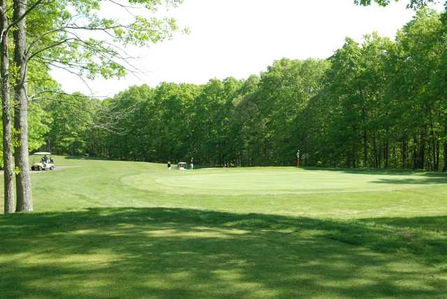 A view of a green at Elmridge Golf Club