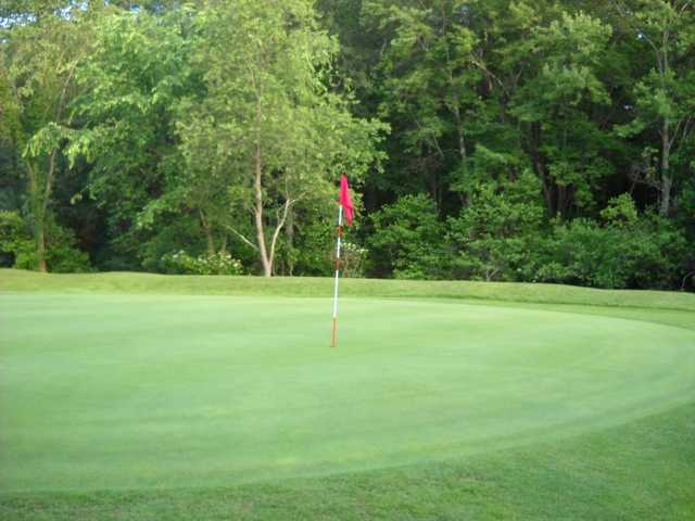 A view of a green at Fairlawn Golf Course