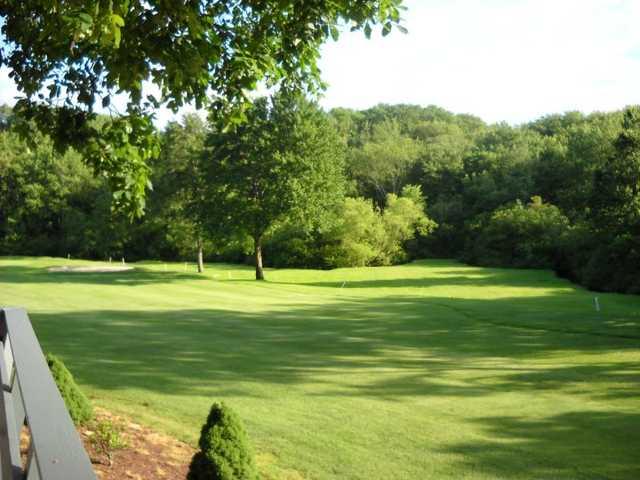 A view of a fairway at Fairlawn Golf Course