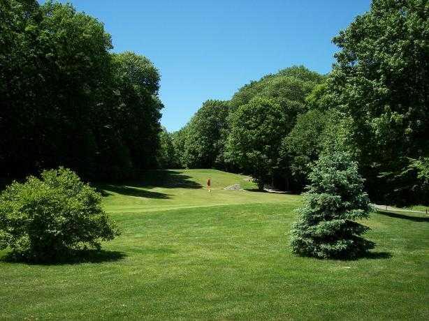A view of a green at Melody Hill Golf Course