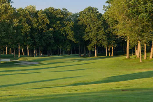A view of a fairway at Kirkbrae Country Club