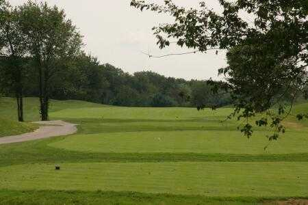 A view from a tee at Crystal Lake Golf Club