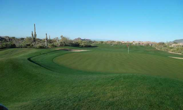 A view of the 3rd green at Legend Trail Golf Club