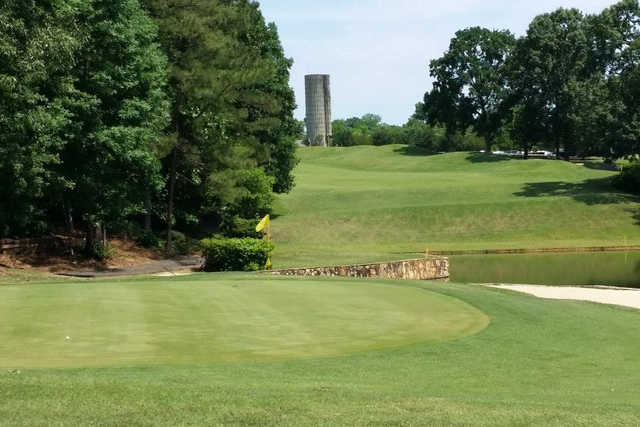 A view of the 10th hole at Golden Hills Country Club