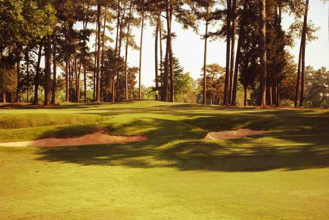 A view of the 18th green at Golden Hills Country Club