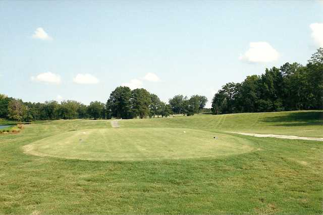 A view of the 18th tee at Ponderosa Country Club