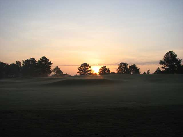 Sunrise over the 8th tee at Nob North Golf Course