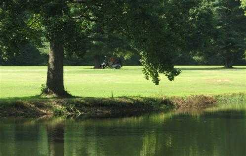 A view over the water from Creeks Bend Golf Club