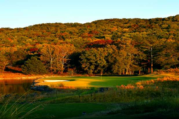 A fall view from a tee at Honors Course