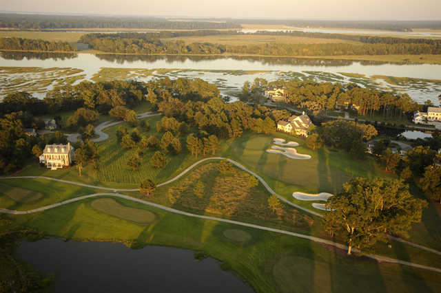 Oldfield Golf Club stretches along the banks of the Okatie River.
