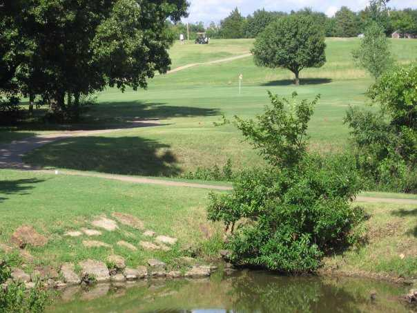 A view of the 3rd green at Pawnee Golf Course