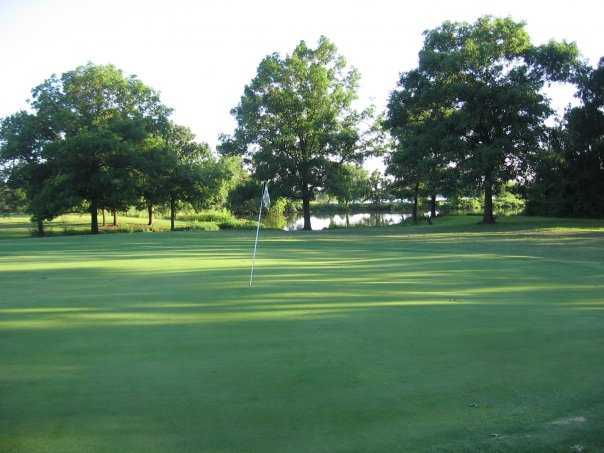 A view of hole #2 at Pawnee Golf Course