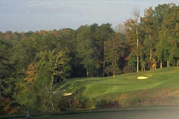 A view from a tee at The Golf Club of Tennessee.
