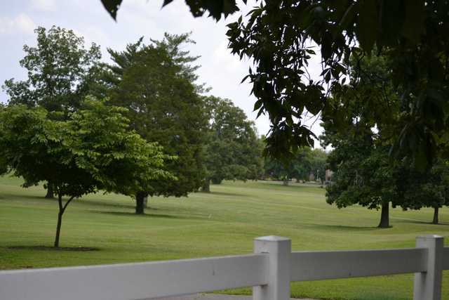 A view over a fence at Lebanon Golf & Country Club