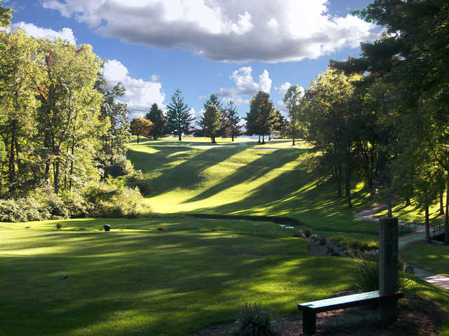 View of hole 9 at Honey Run Golf Club