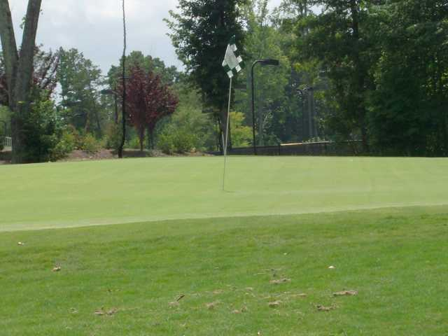 A view of hole #18 at Westport Golf Course