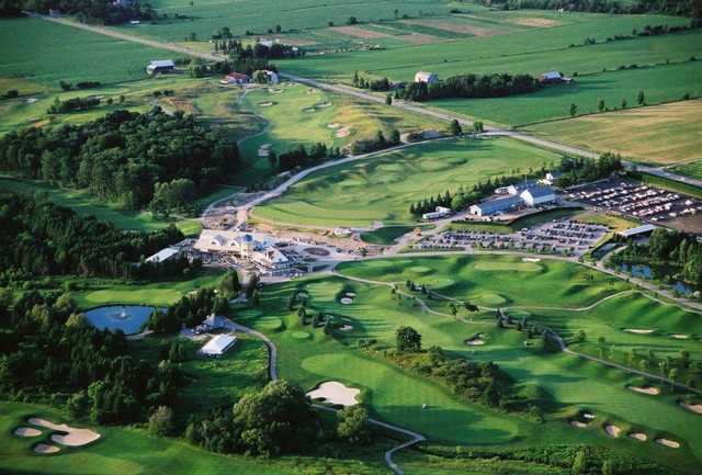 Aerial view from Angus Glen Golf Club