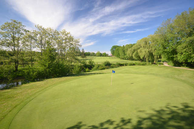 A view of a green at Wyldewood Golf and Country Club