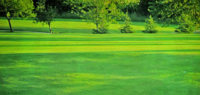 A view of a fairway at Mayfield Golf Club